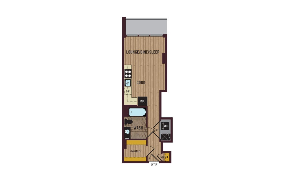 7th Flats Studio Floorplan